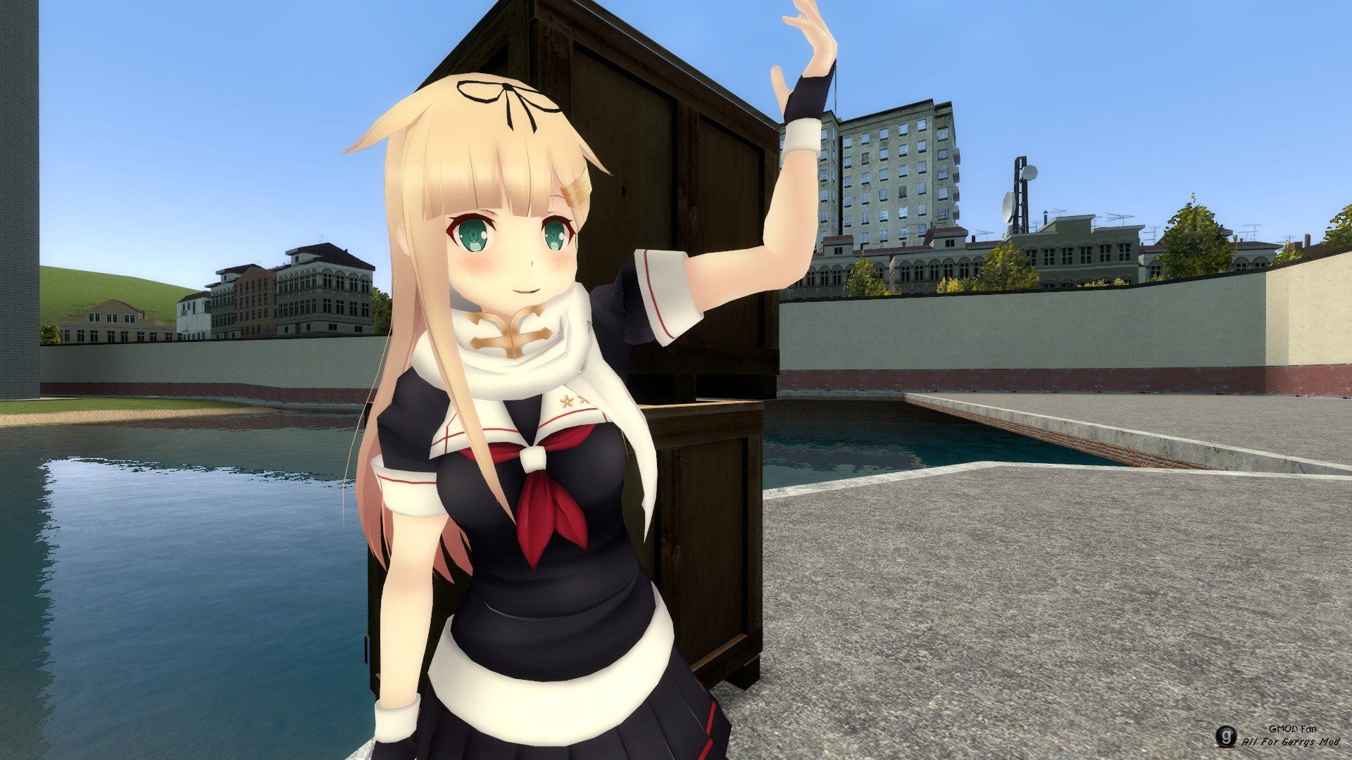 Yuudachi Kai Ni (Kancolle) Playermodel and NPC