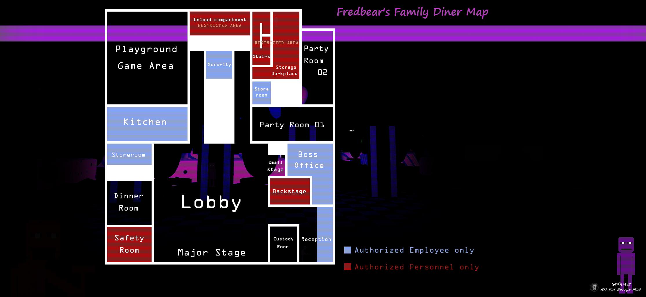 Bgs Fnaf Fredbears Family Diner Map - BerkshireRegion