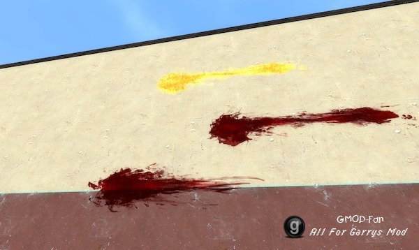 Black Mesa Blood Decals (for Paint Tool)