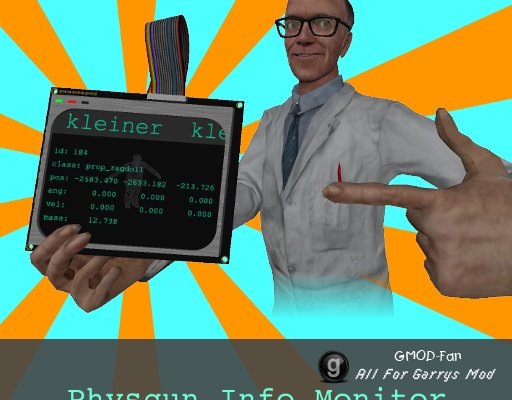 Physgun Info Monitor