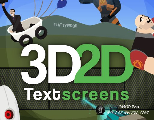 3D2D Textscreens