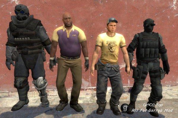 Combine Survivor Models For Left 4 Dead 2 Character – Desenhos Para