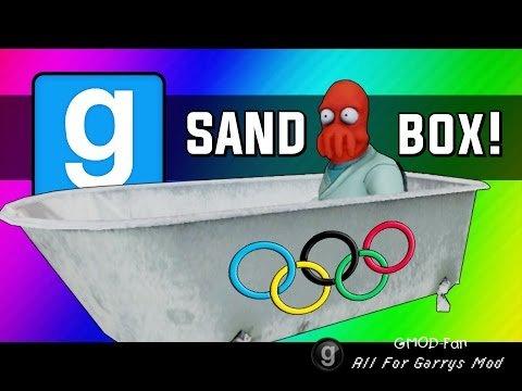 Gmod: Winter Olympics - Sled Build Race & Chaos!