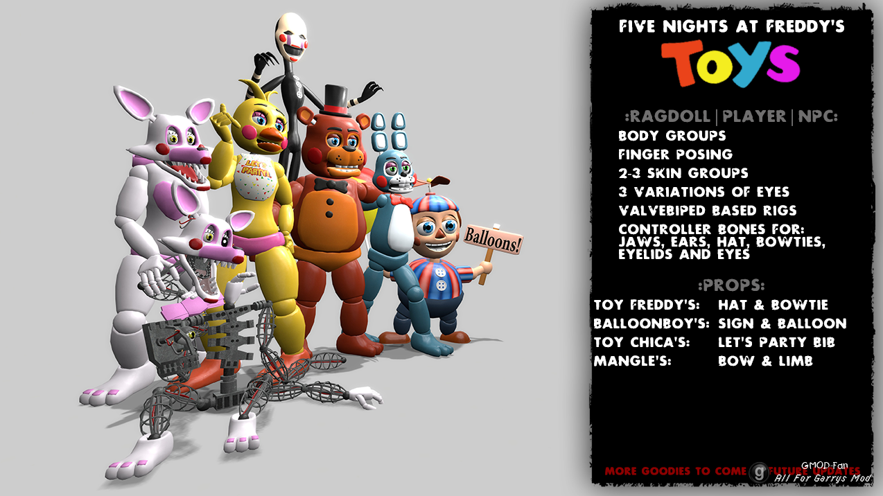 Five nights at freddy s 2 toys