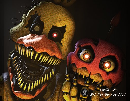 Five nights at Freddy's 4 Nightmare Chica (By Everything models)